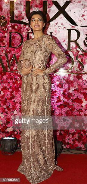 Indian Bollywood actress Jacquline Fernandez attends the Lux Golden Rose Awards 2016 in Mumbai on November 12 2016 / AFP /