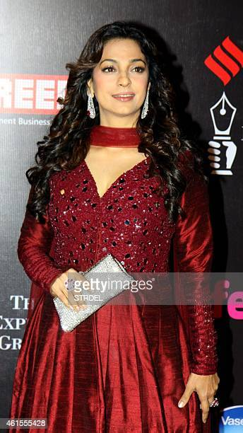Indian Bollywood actress Juhi Chawla attends the 'Life OK Screen Awards 2015' in Mumbai on January 14 2015 AFP PHOTO/STR