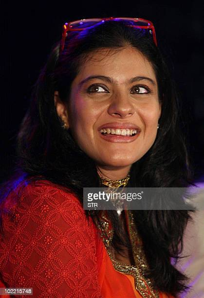 Indian Bollywood actress Kajol attends the launch of photographer Gautam Rajadhyaksh�s Marathi coffee table book �Chehere� in Mumbai on June 18 2010...