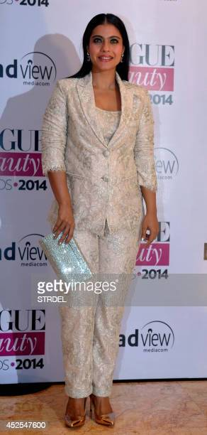 Indian Bollywood actress Kajol Devgan attends the 2014 Vogue Beauty Awards in Mumbai on July 22 2014 AFP PHOTO/STR