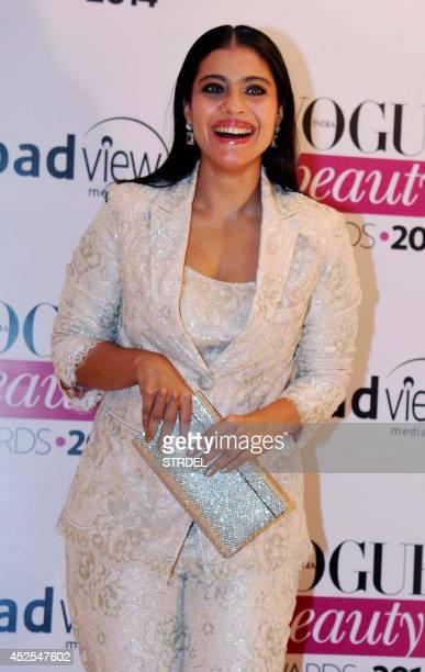 Indian Bollywood actress Kajol Devgan attends the 2014 Vogue Beauty Awards in Mumbai on July 22 2014 AFP PHOTO/STR
