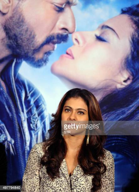 Indian Bollywood actress Kajol Devgn attends the song launch for the upcoming Hindi film 'Dilwale' in Mumbai on November 18 2015 AFP PHOTO