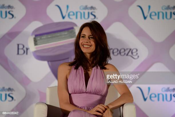 Indian Bollywood actress Kalki Koechlin looks on during a promotional event in New Delhi on May 18 2017 / AFP PHOTO / SAJJAD HUSSAIN