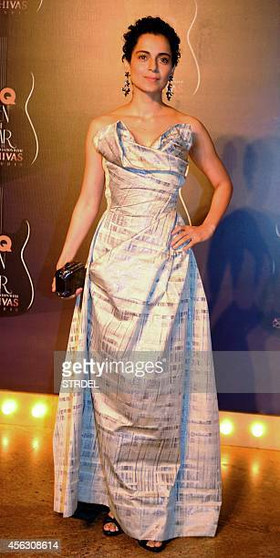 Indian Bollywood actress Kangana Ranaut attends the GQ India Men of the Year Awards 2014 ceremony in Mumbai on September 28 2014 AFP PHOTO/STR