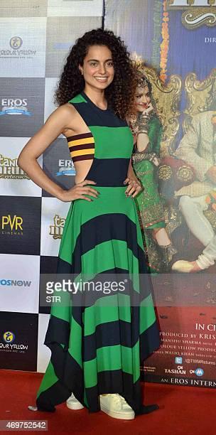 Indian Bollywood actress Kangana Ranaut poses during the trailer launch of the Hindi film Tanu Weds Manu Returns in Mumbai late on April 14 2015 AFP...