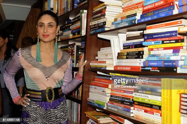 Indian Bollywood actress Kareena Kapoor Khan poses for a picture during the launch of the book 'Pregnancy Notes before during after' author by Rujuta...