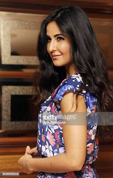 Indian Bollywood actress Katrina Kaif poses for a photograph during a promotional event for the forthcoming Hindi film 'Jagga Jasoos' in Mumbai on...