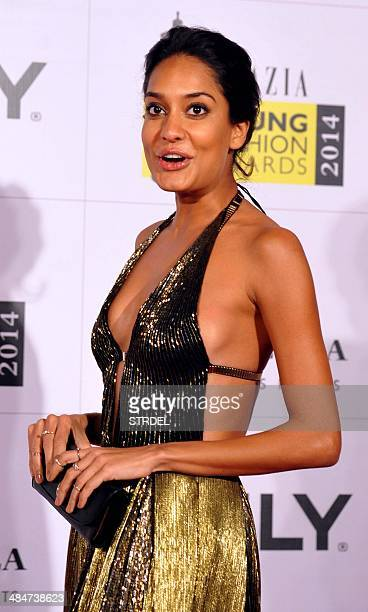 Indian Bollywood actress Lisa Hedon poses for a photograph during the Grazia Young Fashion Awards 2014 ceremony in Mumbai on late April 13 2014 AFP...