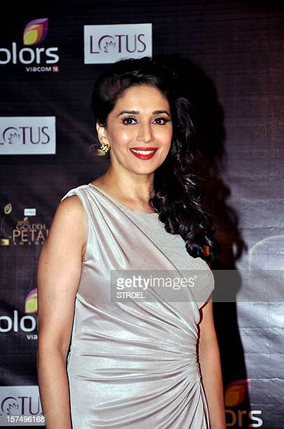 Indian Bollywood actress Madhuri Dixit Nene poses as she attends the 'Colors Golden Petal Awards' ceremony in Mumbai late December 3 2012 AFP...