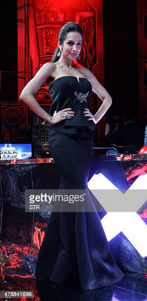 Indian Bollywood actress Malaika Arora as judge for 'India's Got Talent season 6' poses during the Grand Finale in Mumbai on June 27 2015 AFP PHOTO