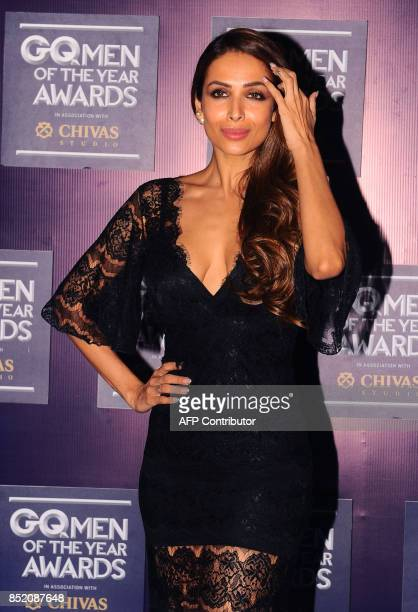 Indian Bollywood actress Malaika Arora attends GQ India's ninth anniversary with the annual Men of the Year Awards 2017 in Mumbai on September 22...