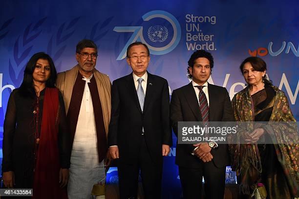 Indian Bollywood actress Nandita Das Indian Nobel laureate Kailash Satyarthi UN Secretary General Ban Kimoon former Indian cricketer Sachin Tendulkar...