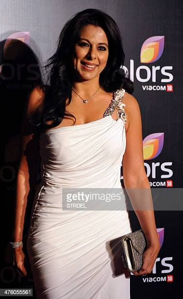 Indian Bollywood actress Pooja Bedi attends the Colors IAA Awards and after party in Mumbai on March 1 2014 AFP PHOTO/STR