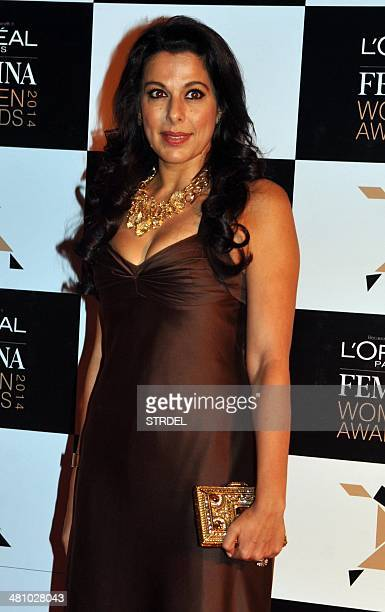Indian Bollywood actress Pooja Bedi attends the LOreal Paris Femina Women Awards in Mumbai on March 27 2014 AFP PHOTO/STR