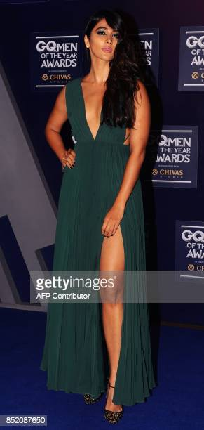 Indian Bollywood actress Pooja Hegde attends GQ India's ninth anniversary with the annual Men of the Year Awards 2017 in Mumbai on September 22 2017...
