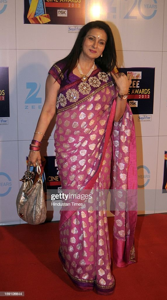 Indian bollywood actress Poonam Dhillon attending Zee Cine Awards 2013 at Yash Raj Studio on January 6, 2013 in Mumbai, India.