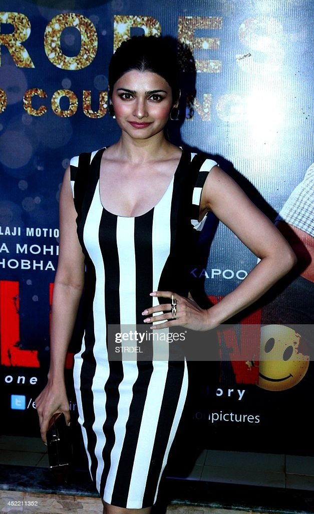 Indian Bollywood actress <a gi-track='captionPersonalityLinkClicked' href=/galleries/search?phrase=Prachi+Desai&family=editorial&specificpeople=5428962 ng-click='$event.stopPropagation()'>Prachi Desai</a> poses during a success party for the Hindi film 'Ek Villain' in Mumbai on July 15, 2014.