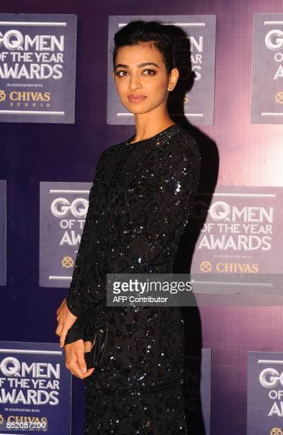 Indian Bollywood actress Radhika Apte attends GQ India's ninth anniversary with the annual Men of the Year Awards 2017 in Mumbai on September 22 2017...