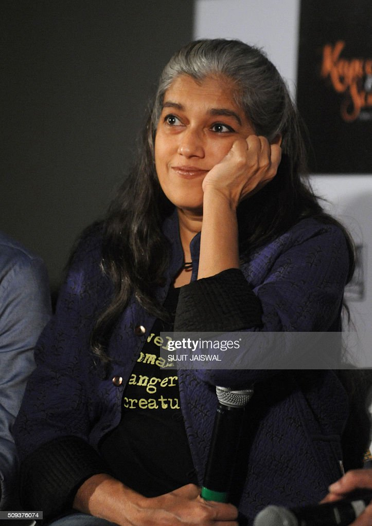 Indian Bollywood actress Ratna Pathak attends the trailer launch of upcoming Hindi film 'Kapoor & Sons' in Mumbai on February 10, 2016. AFP PHOTO / Sujit Jaiswal / AFP / SUJIT JAISWAL
