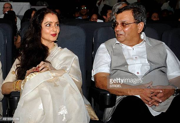 Indian Bollywood actress Rekha and film director Subhash Ghai attend the inauguration of the Internationals Celebration Cinema Festival at Whisling...