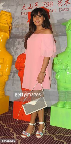 Indian Bollywood actress Richa Chadda attends a party for a newlyopened restaurant in Mumbai on July 2 2016 / AFP /