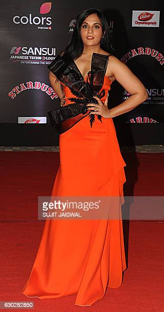 Indian Bollywood actress Richa Chadda attends the 14th Stardust Awards 2016 ceremony in Mumbai on December 19 2016 / AFP / Sujit JAISWAL