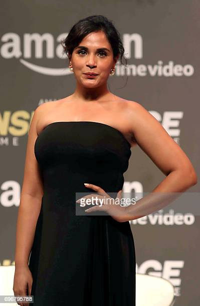 Indian Bollywood actress Richa Chadda attends the trailer launch of Amazon's first original drama series 'Inside Edge' in Mumbai on June 16 2017 /...