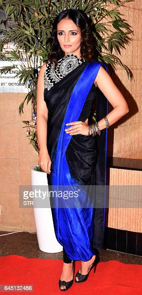 Indian Bollywood actress Roshni Chopra poses for a photograph during a promotional event in Mumbai on late February 24 2017 / AFP / STR