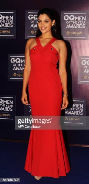 Indian Bollywood actress Saiyami Kher attends GQ India's ninth anniversary with the annual Men of the Year Awards 2017 in Mumbai on September 22 2017...