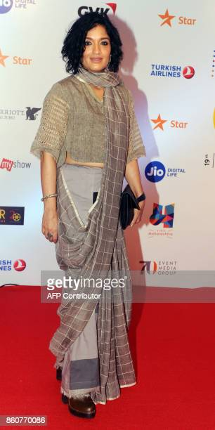 Indian Bollywood actress Sandhya Mridul attends the opening ceremony of the Jio MAMI 19th Mumbai Film Festival in Mumbai on October 12 2017 / AFP...