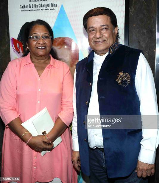 Indian Bollywood actress Seema Biswas and Bhajan singer Anup Jalota attended the screening of Hindi film 'Mr Kabaadi' in Mumbai on September 6 2017 /...