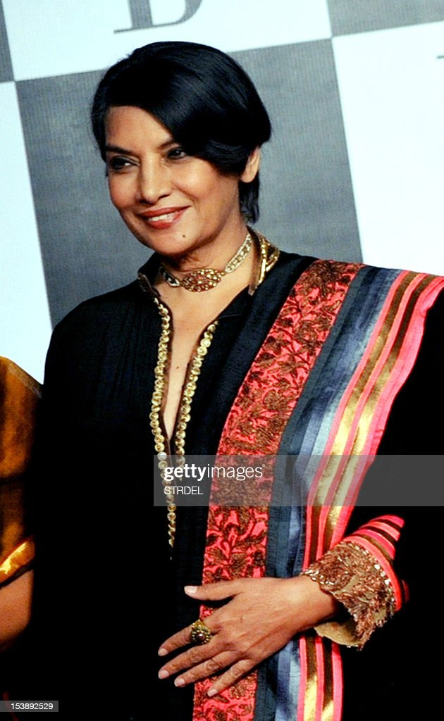 Indian Bollywood actress Shabana Azmi arrives to attend the 70th Birthday celebration of Bollywood Actor Amitabh Bachchan in Mumbai late October 10, 2012.