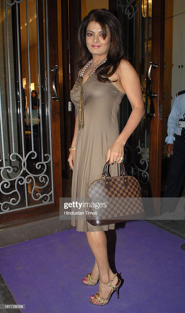 Indian bollywood actress Sheeba during the launch of Pradeep Jethani's flagship store 'Jet Gems' at Turner Road, Bandra on February 13, 2013 in Mumbai, India.