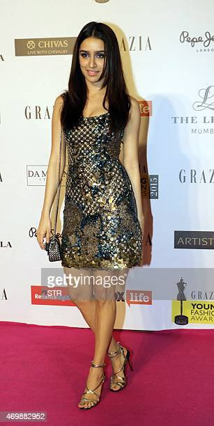 Indian Bollywood actress Shraddha Kapoor attends the 'Grazia Young Fashion Awards 2015' ceremony in Mumbai on April 15 2015 AFP PHOTO