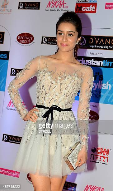 Indian Bollywood actress Shraddha Kapoor poses as she attends the HT Mumbai's Most Stylish Awards 2015 ceremony in Mumbai late March 26 2015 AFP...
