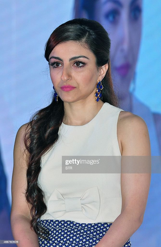 Indian Bollywood actress <a gi-track='captionPersonalityLinkClicked' href=/galleries/search?phrase=Soha+Ali+Khan&family=editorial&specificpeople=691303 ng-click='$event.stopPropagation()'>Soha Ali Khan</a> attends an event for a line of electronics in Mumbai on April 7, 2015.