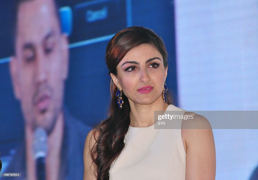 Indian Bollywood actress Soha Ali Khan attends an event for a line of electronics in Mumbai on April 7 2015 AFP PHOTO