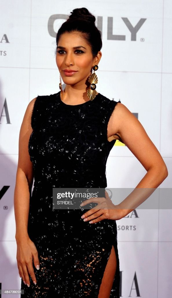 Indian Bollywood actress Sophie Chaudhary poses for a photograph during the Grazia Young Fashion Awards 2014 ceremony in Mumbai on late April 13, 2014.