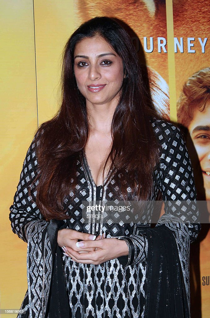Indian Bollywood actress Tabu poses as she attends a special screening of the film 'Life of Pi' in Mumbai late November 21, 2012.