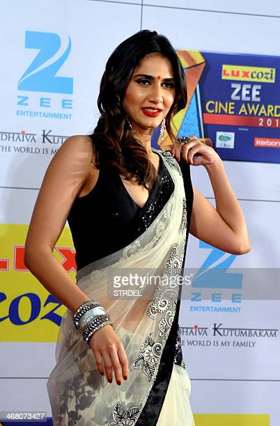 Indian Bollywood actress Vaani Kapoor attends the Zee Cine Awards ceremony in Mumbai on February 8 2014 AFP PHOTO/STR