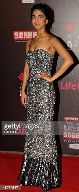 Indian Bollywood actress Vaani Kapoor poses for a photograph during the Life OK Screen Awards 2014 ceremony in Mumbai on late January 14 2014 AFP...