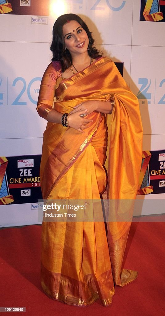 Indian bollywood actress Vidya balan attending Zee Cine Awards 2013 at Yash Raj Studio on January 6, 2013 in Mumbai, India.