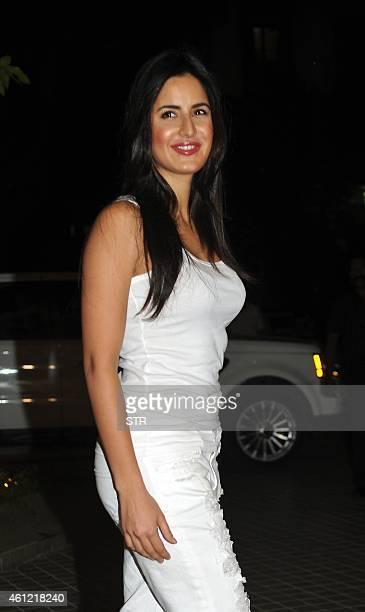 Indian Bollywood film actor Katrina Kaif attends the 50th birthday party of Bollywood film director choreographer producer and actress Farah Khan at...