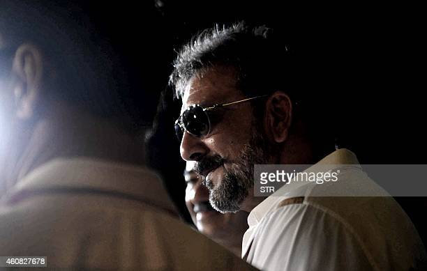 Indian Bollywood film actor Sanjay Dutt attends the special screening of Hindi film 'PK' in Mumbai on December 25 2014 AFP PHOTO