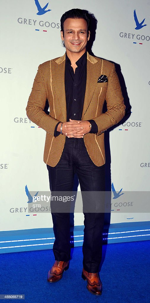 Indian Bollywood film actor Vivek Oberoi poses during the 'Grey Goose Style Du Jour' Spring-Summer collection fashion show in Mumbai on December 10, 2013.