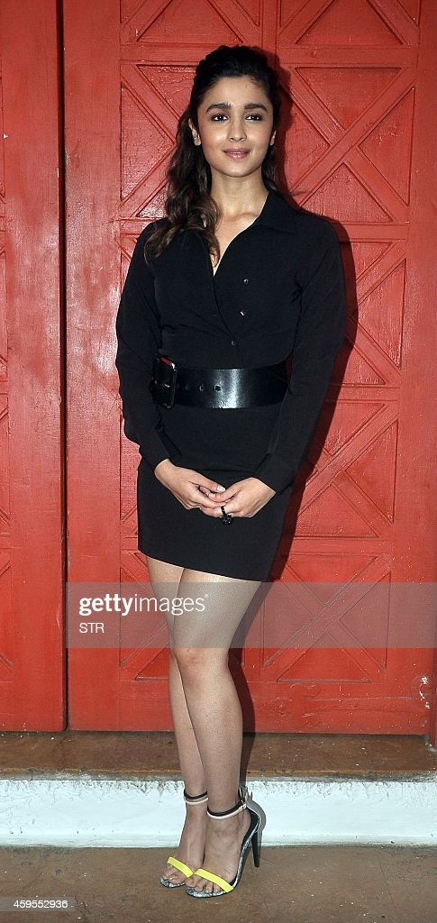 Indian Bollywood film actress <a gi-track='captionPersonalityLinkClicked' href=/galleries/search?phrase=Alia+Bhatt&family=editorial&specificpeople=9620703 ng-click='$event.stopPropagation()'>Alia Bhatt</a> poses during the launch of the 55th anniversary issue of the Femina Cover in Mumbai on November 24, 2014. AFP PHOTO