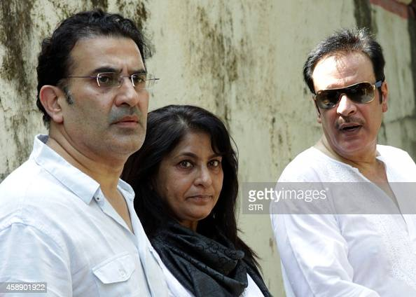 Bollywood film actress Archana Puran Singh, (C), with her husband ...