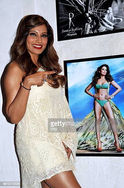 Indian Bollywood film actress Bipasha Basu poses during the launch of Daboo Ratnani's Celebrity Calendar 2015 in Mumbai on January 5 2015 AFP PHOTO