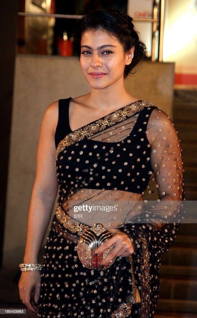Indian Bollywood film actress Kajol Devgan poses at the premier of the ...