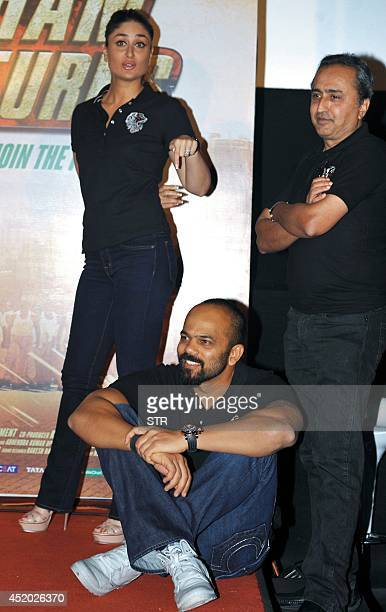 Indian Bollywood film actress Kareena Kapoor attends the trailer launch of the upcoming Hindi film 'Singham Returns' directed by Rohit Shetty and...